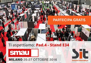 SIT sarà presente a SMAU Milano 2016 e ti regala il biglietto gratuito per entrare alla Fiera. Iscriviti adesso!
